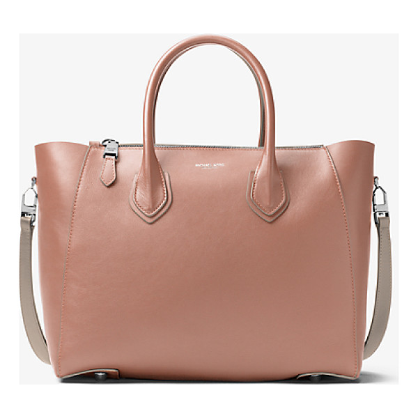 MICHAEL KORS COLLECTION Helena Large French Calf Satchel - A Study In Sleek Steadfast Style The Helena Satchel Is...