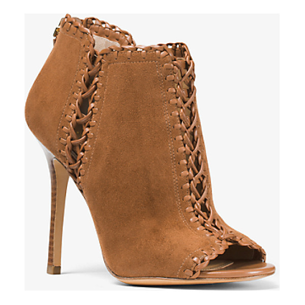 MICHAEL KORS COLLECTION Henley Suede And Leather Pump - Crafted In Italy From Suede And Woven Leather Our Henley...