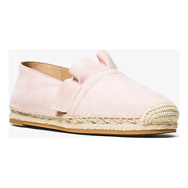 MICHAEL KORS COLLECTION Laticia Suede Espadrille - Rendered In Luxe Suede With Jute Trim And Delicate Ruffle...