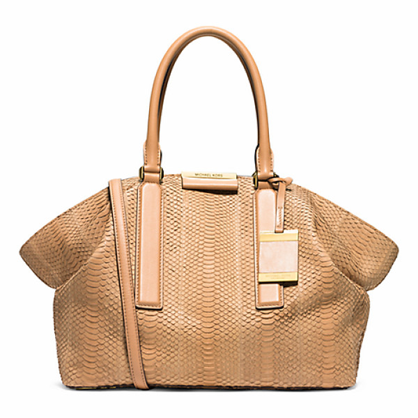 MICHAEL KORS COLLECTION Lexi Large Sueded Snakeskin Satchel - A Classic Carryall With Contemporary Appeal Our Lexi...