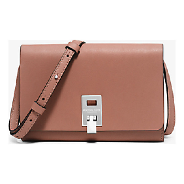 MICHAEL KORS COLLECTION Miranda Medium Leather Crossbody - Impeccably Crafted From Opulent French Calfskin And...