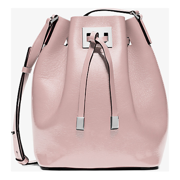 MICHAEL KORS COLLECTION Miranda Medium Leather Crossbody - The Beauty Of Our Miranda Bucket Bag Lies In Its Minimalist...