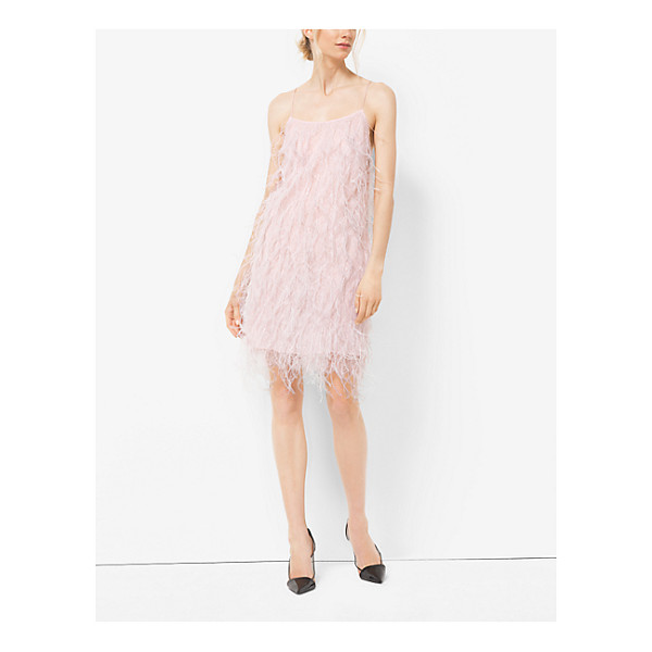 MICHAEL KORS COLLECTION Ostrich Feather-Embroidered Chantilly Lace Slip Dress - I Love The Idea Of Something Light And Frothy To Wear In...