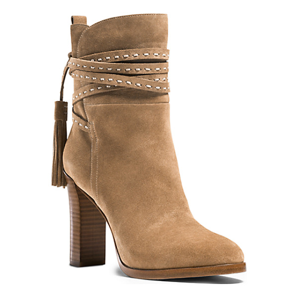 MICHAEL KORS COLLECTION Palmer Ankle-Wrap Suede Boot - Our Palmer Boots Offer An Artisanal Take On Bohemian Style....