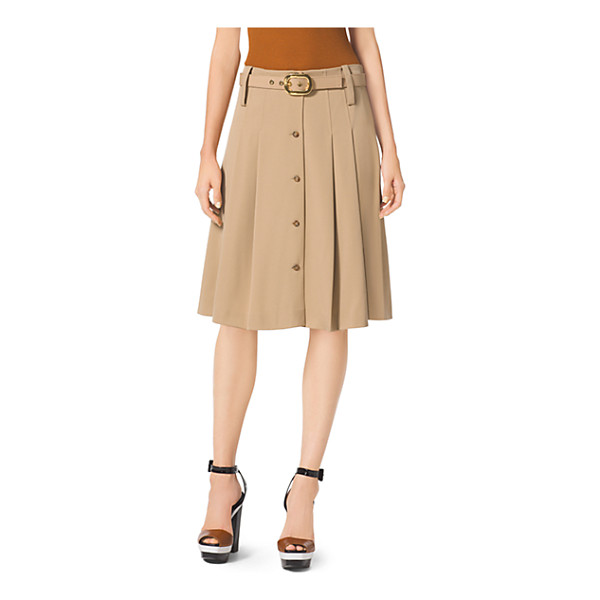 MICHAEL KORS COLLECTION Pleated Wool-Gabardine Skirt - This Is A Riff On A Schoolgirl Skirt With A Very Slouchy...
