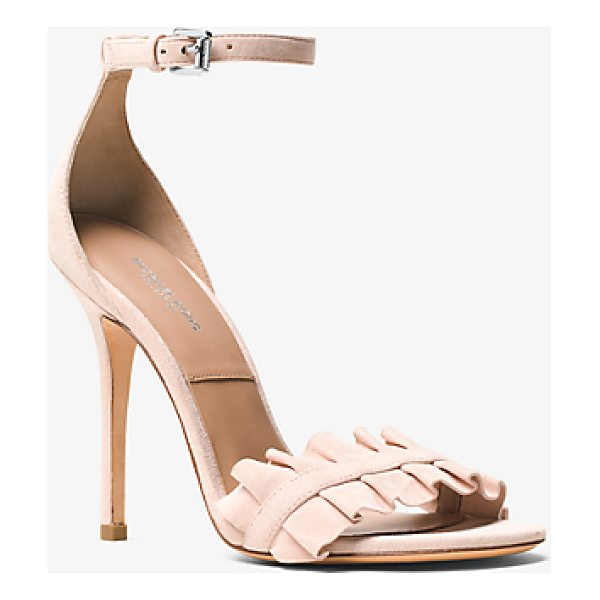MICHAEL KORS COLLECTION Priscilla Suede Sandal - With A Delicate Ankle Strap And Ruffled Accents The...