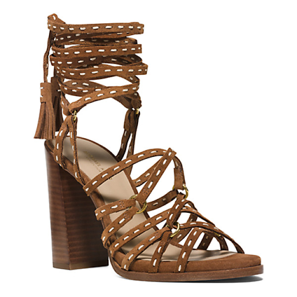 MICHAEL KORS COLLECTION Rowan Suede Sandal - Crafted From Deliciously Soft Suede Our Italian-Made Rowan...