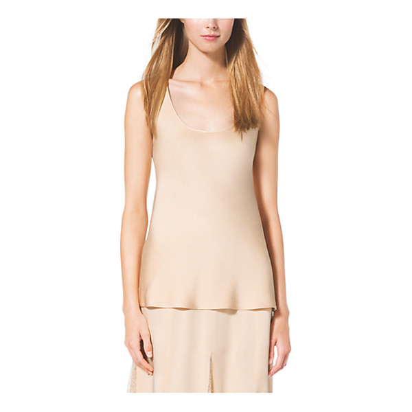 MICHAEL KORS COLLECTION Satin Charmeuse Tank - Every Well-Edited Wardrobe Needs Luxe Layering Pieces Like...
