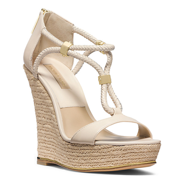 MICHAEL KORS COLLECTION Sherie Braided Leather Espadrille Wedge - Say Hello To Sherie A Stylish Study In Converging...