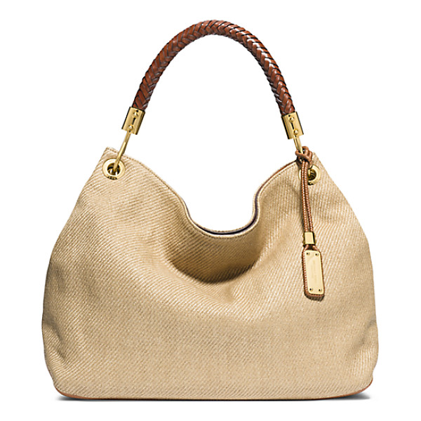 MICHAEL KORS COLLECTION Skorpios Large Woven Shoulder Bag - Never Let Go. This Superbly Chic Shoulder Bag Is Crafted...