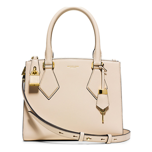 MICHAEL KORS COLLECTION Casey Small Leather Satchel - Rendered In French Calf Leather The Casey Satchel Is Luxury...