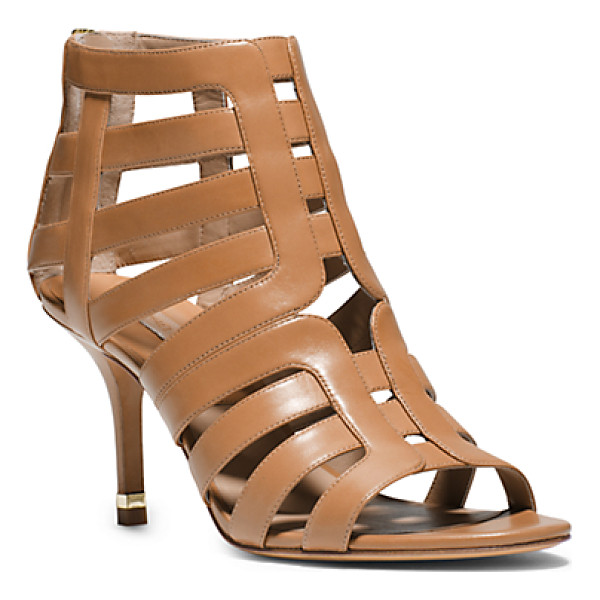 MICHAEL KORS COLLECTION Susie leather cutout sandal - Your dress-it-up dress-it-down essential for the season. In...