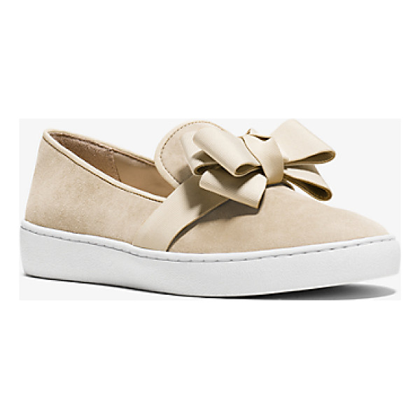 MICHAEL KORS COLLECTION Val Suede Slip-On Sneaker - Designed In Sumptuous Suede With A Refined Grosgrain Bow...