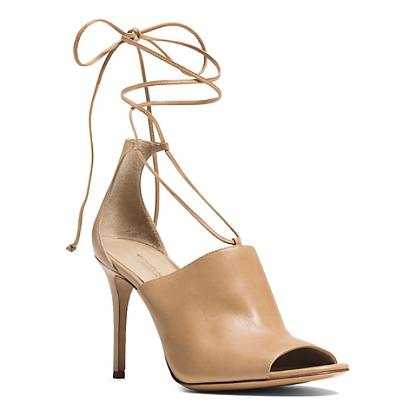 MICHAEL KORS COLLECTION Venice Leather Sandal - I'm Strap Happy Says Michael. Detailed With Delicate