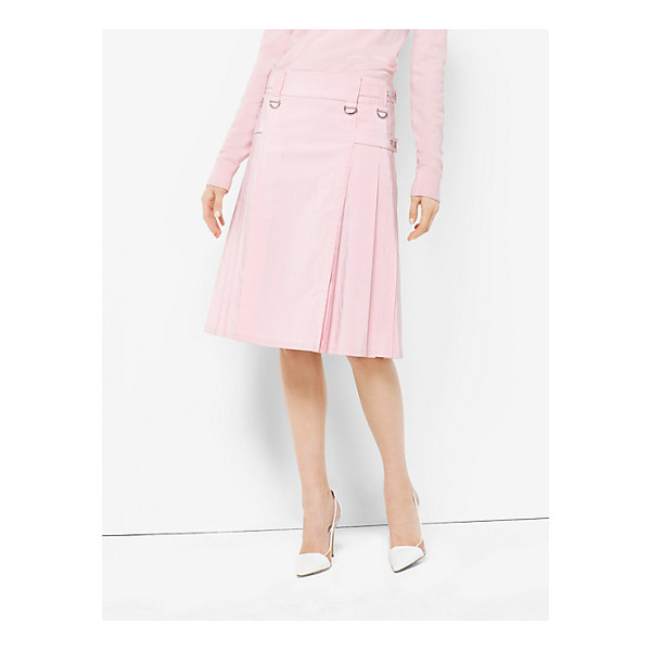 MICHAEL KORS COLLECTION Washed Silk And Cotton-Faille Utility Kilt - Palm Beach Meets Punk In This Utility Kilt Says Michael....