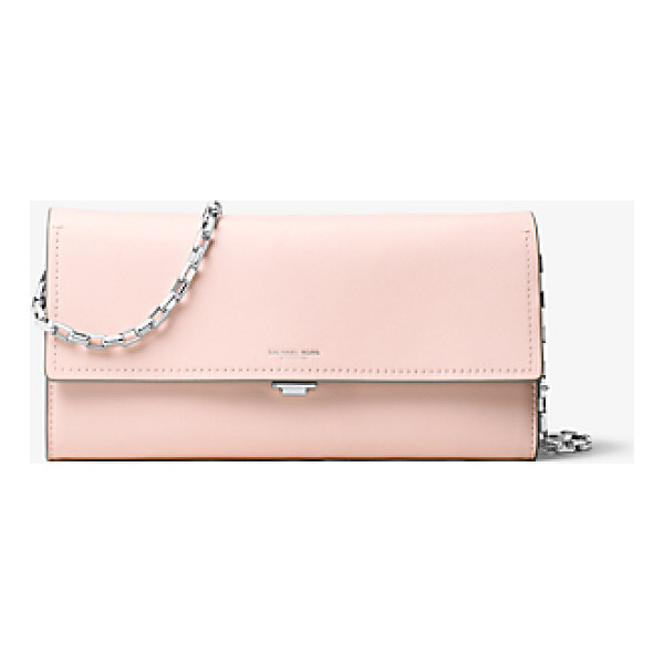 MICHAEL KORS COLLECTION Yasmeen Large French Calf Leather Clutch - Clean Lines And French Calf Leather Combine For An...