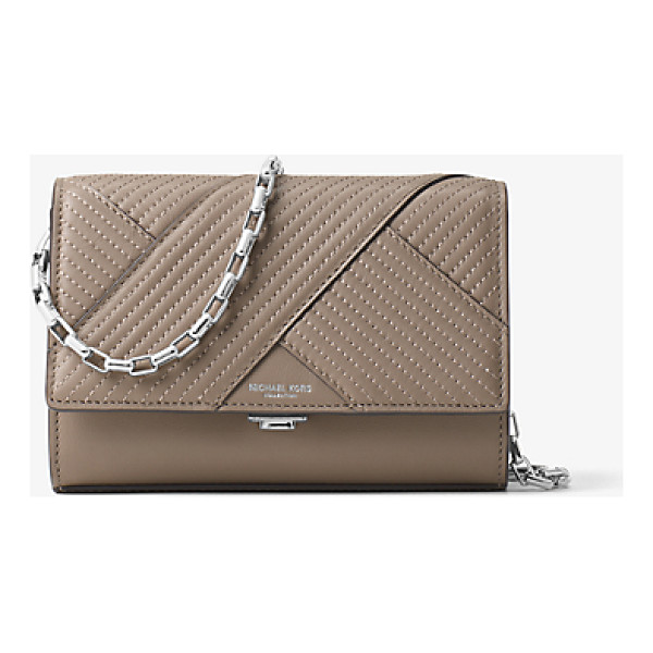 MICHAEL KORS COLLECTION Yasmeen Small Quilted-Leather Clutch - Clean Lines And Quilted French Calf Leather Combine For An...