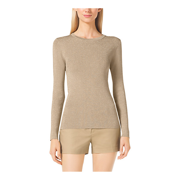 MICHAEL KORS Crewneck Ribbed Sweater - A Versatile Must-Have This Classic Crewneck Sweater...