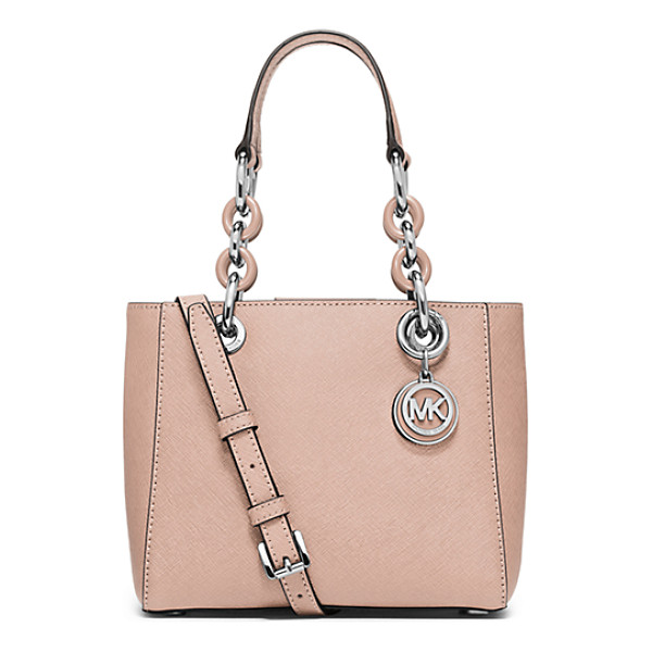 MICHAEL KORS Cynthia Extra-Small Saffiano Leather Satchel - A Fresh Design With Ladylike Flair Our Streamlined Cynthia...