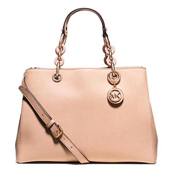 MICHAEL KORS Cynthia medium saffiano leather satchel handbag - Our sweet Cynthia bag takes a romantic approach to color....