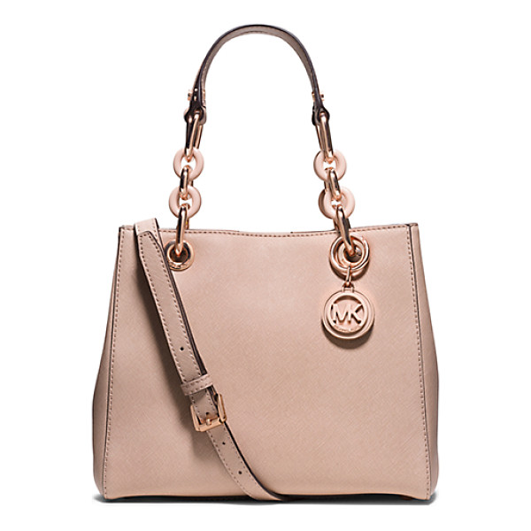 MICHAEL KORS Cynthia Small Saffiano Leather Satchel - Everlasting Luxe. Our Sweet Cynthia Bag Takes A Romantic...