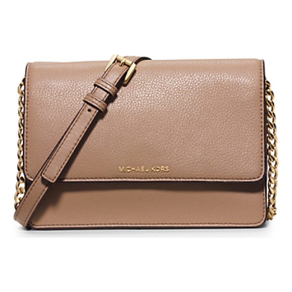 MICHAEL KORS Daniela Small Leather Crossbody - Sleek Sharp And Minimalist Theres No Ensemble This Compact...