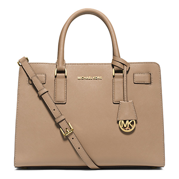 MICHAEL KORS Dillon saffiano leather satchel handbag - Walking the line between ladylike and luxe our Dillon...