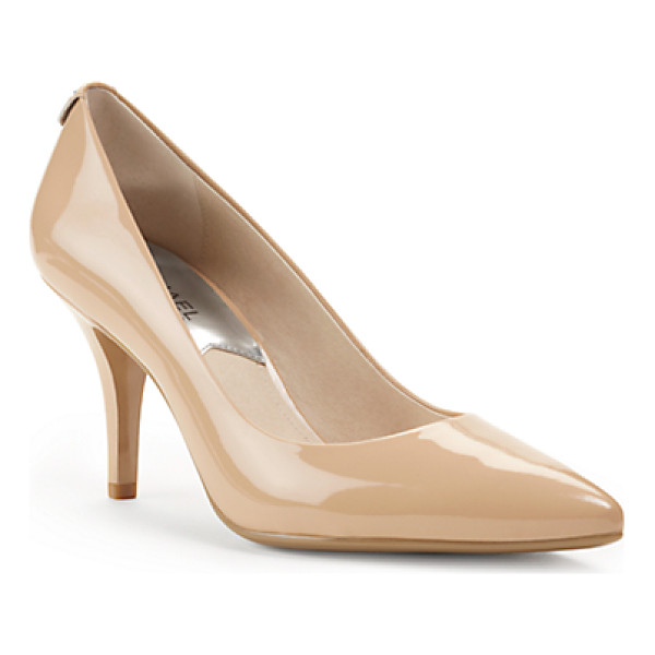 MICHAEL KORS Flex Patent Leather Mid-Heel Pump - A Wardrobe Must-Have That Will Work Overtime This