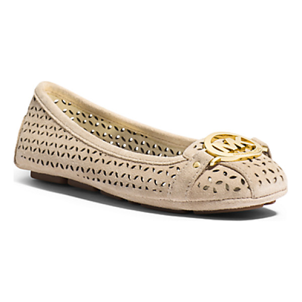 MICHAEL KORS Fulton Perforated Suede Moccasin - Meet The New Go-To In Your Shoe Repertoire: Our Fulton...