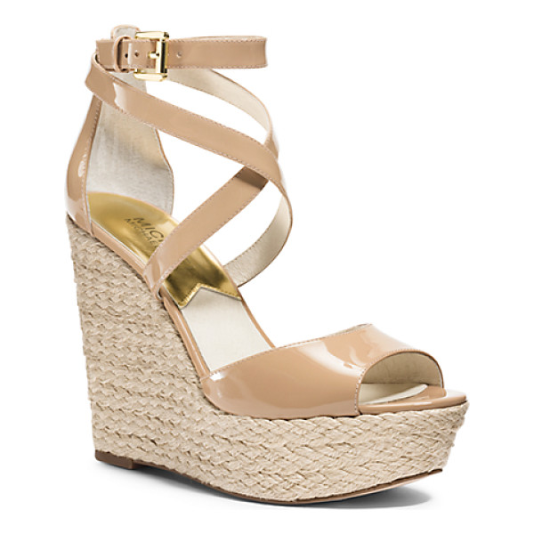 MICHAEL KORS Gabriela Patent-Leather Espadrille Wedge - Explore High-Fashion Territory In Our Gabriela Wedges....