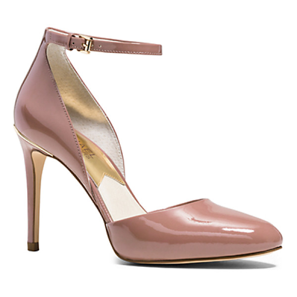 MICHAEL KORS Georgia Patent-Leather Pump - These Beautifully Sculpted Pumps Will Lend Instant Elegance...