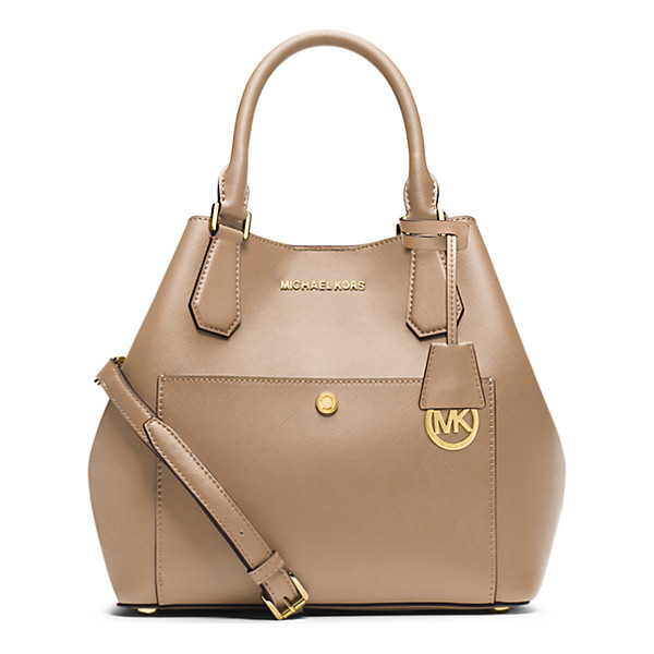 MICHAEL KORS Greenwich Large Saffiano Leather Satchel - The Season's Byword For Glamorous And On-The-Go Our...