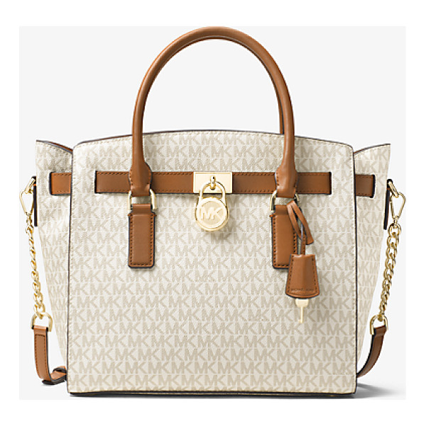 MICHAEL KORS Hamilton Large Logo Satchel - Our Hamilton Logo Satchel Is A Sophisticated Alternative To...