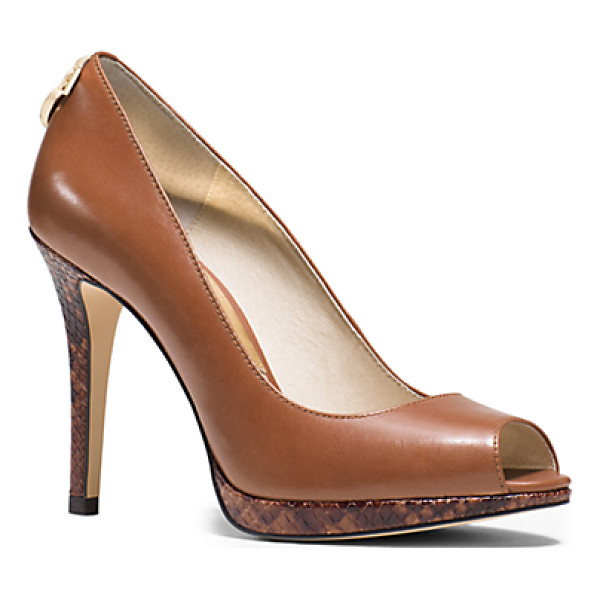 MICHAEL KORS Hamilton Leather Peep-Toe Pump - Sultry Yet Sophisticated Our Hamilton Peep-Toe Pumps Are A...