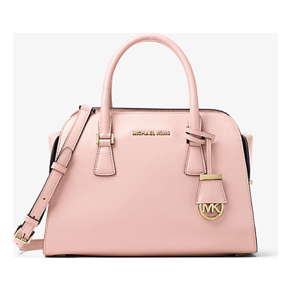 MICHAEL KORS Harper Medium Leather Satchel - Crafted From Pebbled Leather With Tailored Top Handles And...