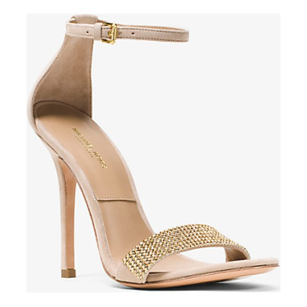 MICHAEL KORS Jacqueline Embellished Suede Sandal - Our Jacqueline Sandals Balance Simplicity With...