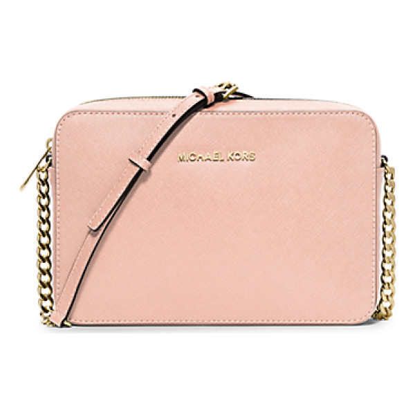 MICHAEL KORS Jet set large saffiano leather crossbody - Beauty and brains-this compact bag is the complete package....