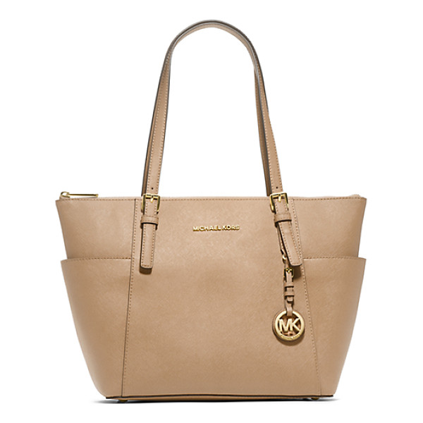 MICHAEL KORS Jet Set Top-Zip Saffiano Leather Tote - Jet Setters Take Note: This Sophisticated Multi-Tasking...