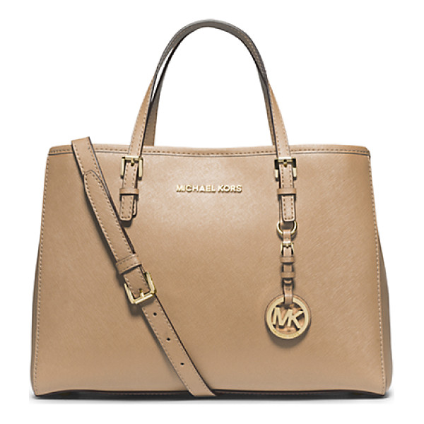 MICHAEL KORS Jet Set Travel Saffiano Leather Medium Tote - Prim And Proper Meets Roomy And Relaxed With Our Jet Set...