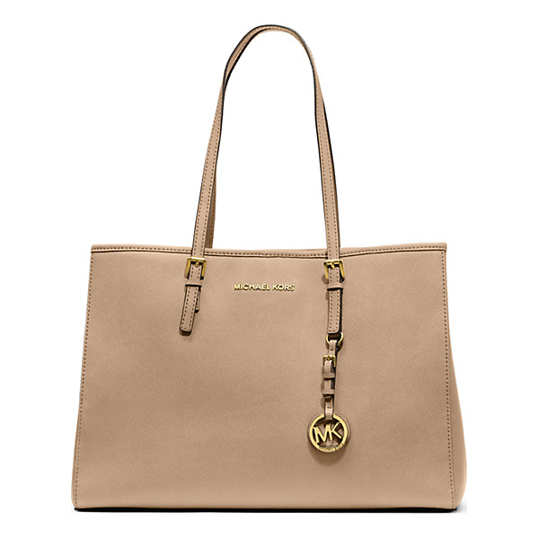 MICHAEL KORS Jet Set Travel Saffiano Leather Tote - Prim And Proper Meets Roomy And Relaxed With Our Jet Set...