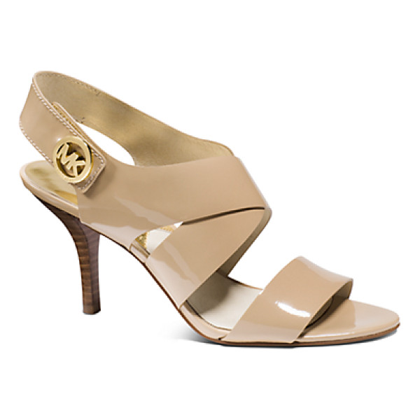 MICHAEL KORS Joselle Patent-Leather Sandal - With A Glossy Patent-Leather Finish And Sensible Stiletto...