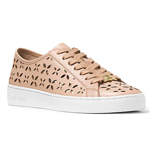 MICHAEL KORS Keaton Perforated-Leather Sneaker - These Sophisticated Sneakers Will Add Effortless Chic To...