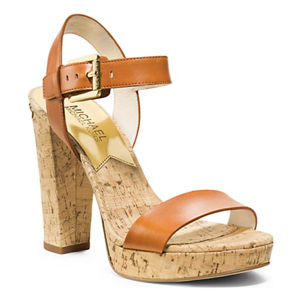 Michael Kors London Cork Platform Sandal Nudevotion Com