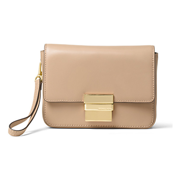 MICHAEL KORS Madelyn Small Leather Clutch - A Compact Approach To Chic Our Madelyn Clutch Is Crafted...