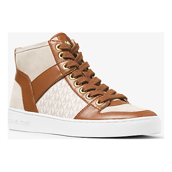 MICHAEL KORS Matty Logo Leather And Suede High-Top Sneaker - A Signature Take On A Sport-Luxe Favorite Our Matty...