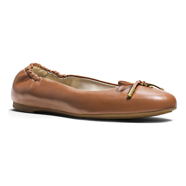 MICHAEL KORS Melody Leather Ballet Flat - So French And So Chic. With Its Flexible Sole And Sweet Bow...