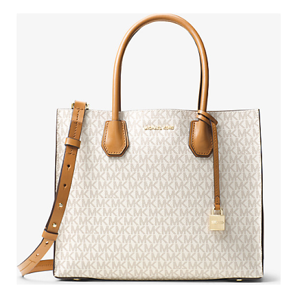 MICHAEL KORS Mercer Large Logo Tote - Crafted From Coated Twill And Printed With Our Signature