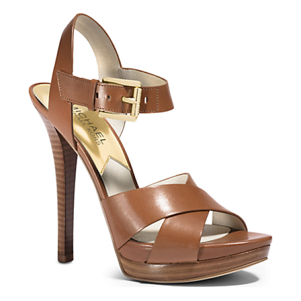 MICHAEL KORS Oksana Leather Sandal - Take Your Shoes To New Heights. With A Slight Platform...