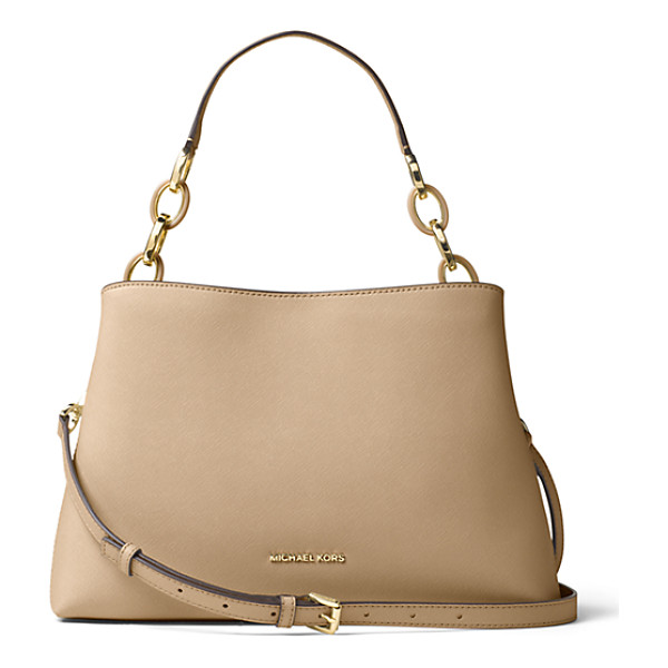 MICHAEL KORS Portia Large Saffiano Leather Shoulder Bag - A Study In Easy Over-The-Shoulder Style This Luxe Bag Is...