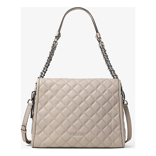 MICHAEL KORS Grand sac a epaule rachel en cuir matelasse - Sleek quilted stitching lends a luxe touch to our Rachel...